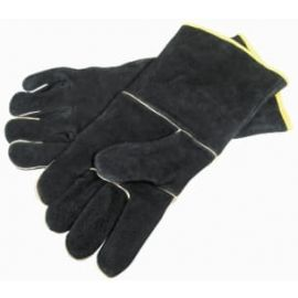 Grill Pro Accessories - 00528 - GLOVES LEATHER BLACK (PAIR)