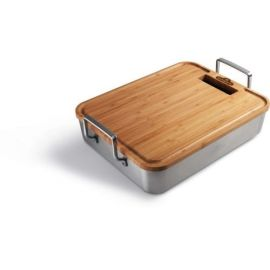 Napoleon S/S Roasting Pan W/ Bamboo Cutting Board