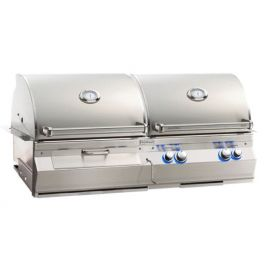 Aurora A830i Gas & Charcoal Combo Grill W/Rear