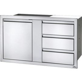 42in x 24in Large Single Door & Triple Drawer
