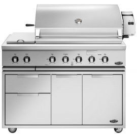 "48"" Barbecue and CAD Cart with Side Burner"