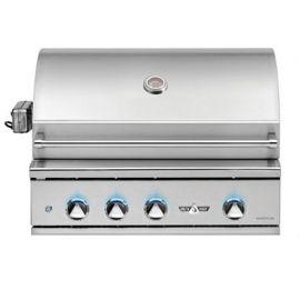 32in Delta Heat Gas Grill W/ Rotis/Sear