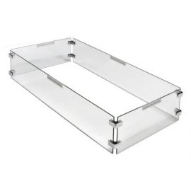 Paramount Rectangular Glass Windguard