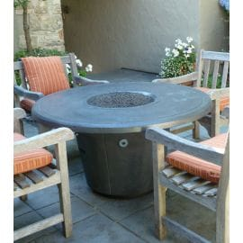 GL-645-SM-11V2PC - American Fyre Designs - Cosmopolitan Round Firetable Smoked Textured
