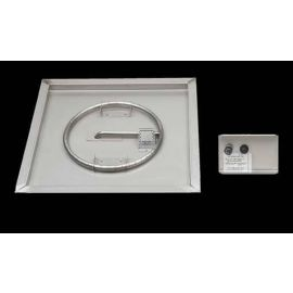 American Fyre Designs - OCBP-2525 - SQUARE PAN BURNER W/HANGER / VALVE NG ELEC SPARK