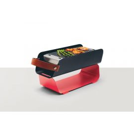 UNA Portable Table Charcoal Grill - Red
