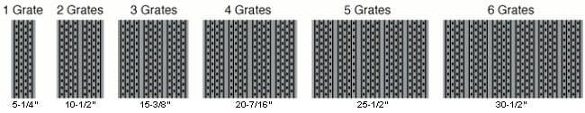 grill grate width examples